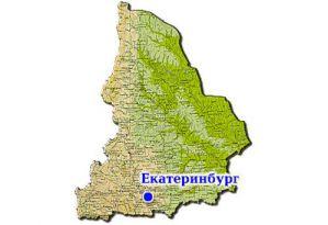 Екатеринбург на карте