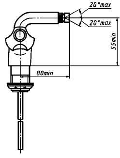 Смеситель для бидэ двухрукояточный центральный набортный. Тип См-БдДЦБ
