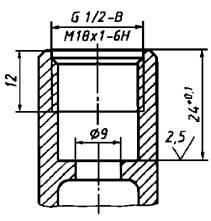 Основные размеры седла клапана и резьб для присоединения вентильных головок