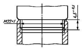 Размеры резьбы узла присоединения аэратора к изливам с внешней резьбой