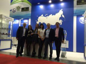 Коллектив представителей компании Профсан ПСМ на выставке Aqua-Therm Moscow 2015