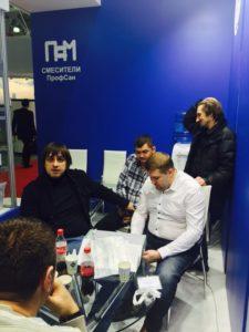 Представители компании Профсан ПСМ на Aqua-Therm Moscow 2015