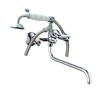 Двухрукояточный смеситель для ванной комнаты Профсан ПСМ 160-К/50