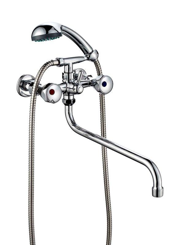 Смеситель для ванной с душем двухвентильный ПСМ ПрофСан 156-К/04