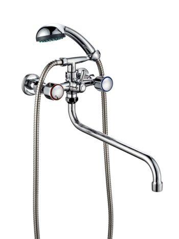 Двухвентильный смеситель для ванной ПСМ ПрофСан 156-К/06