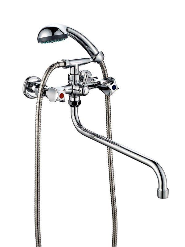 Смеситель двухвентильный для ванной с душем ПСМ ПрофСан 156-К/50