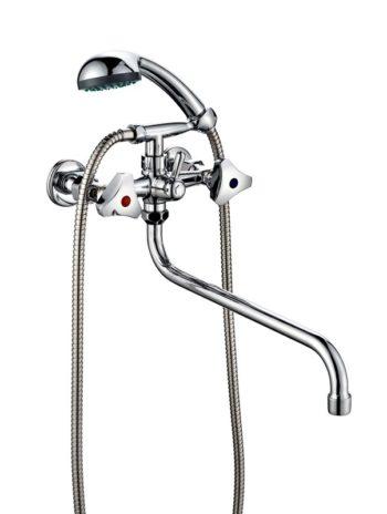 Смеситель для ванной с душем двухвентильный ПСМ ПрофСан 156-К/80