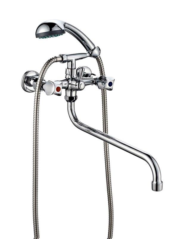 Двухвентильный смеситель для ванной ПСМ ПрофСан 157-К/50