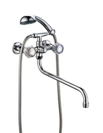 Смеситель для ванной комнаты двухвентильный ПСМ ПрофСан 157-K/65
