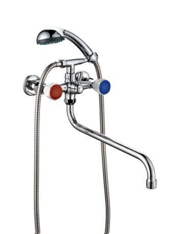 Смеситель ванно-душевой двухвентильный ПСМ ПрофСан 157-К/77
