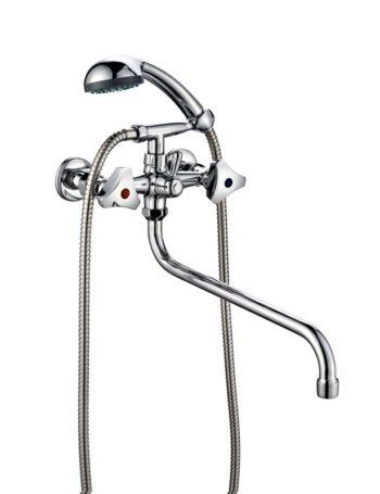 Смеситель двухвентильный для ванной ПСМ ПрофСан 157-К/80