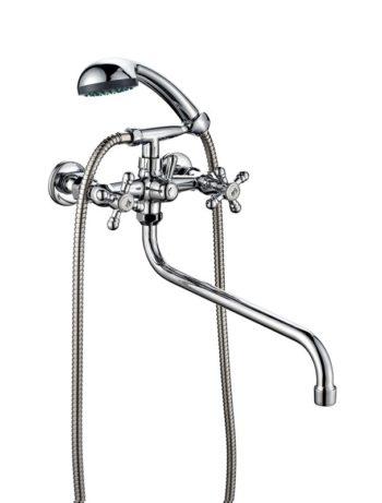 Двухвентильный смеситель для ванной с душем ПСМ ПрофСан 157-К/89