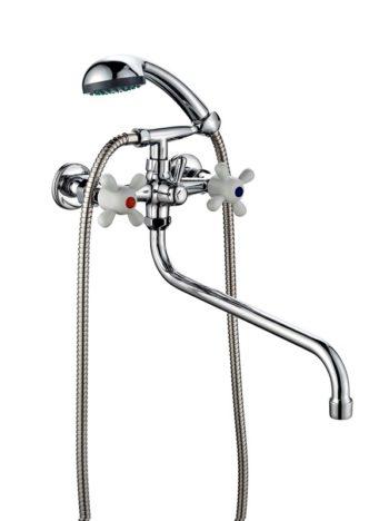 Смеситель двухвентильный для ванны с душем ПСМ ПрофСан 157-К/99