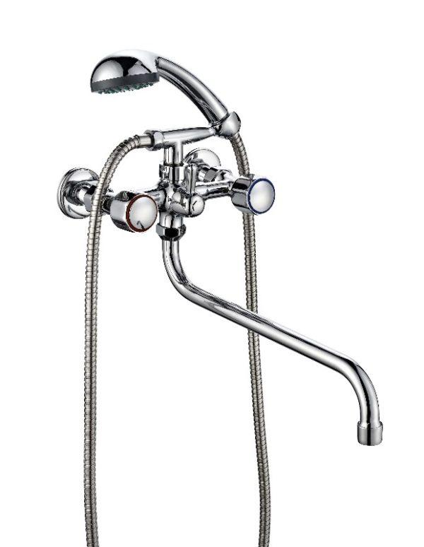 Двухвентильный смеситель для ванной ПСМ ПрофСан 165-К/06