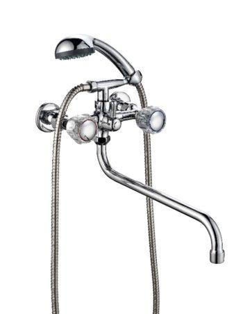 Ванно-душевой двухвентильный смеситель ПСМ ПрофСан 165-K/65