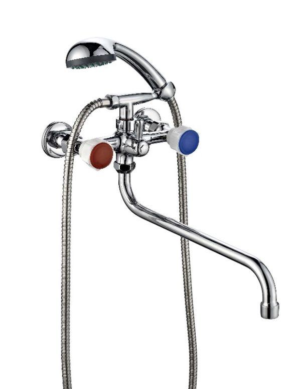 Смеситель для ванной с душем двухвентильный ПСМ ПрофСан 165-К/77