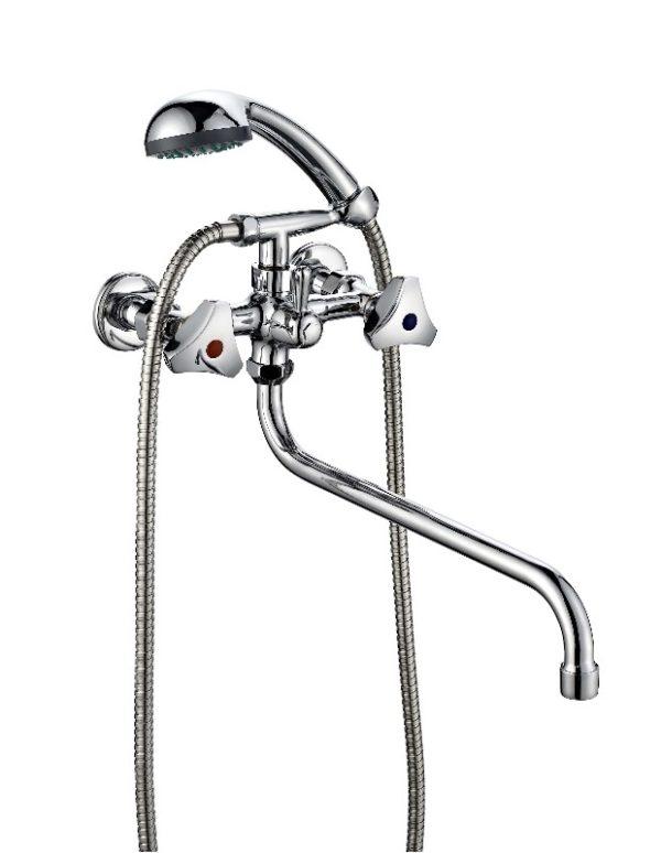 Смеситель для ванной комнаты двухвентильный ПСМ ПрофСан 165-K/80