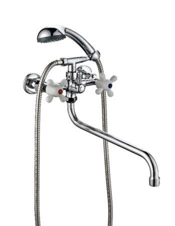 Двухвентильный смеситель для ванной с душем ПСМ ПрофСан 165-К/99