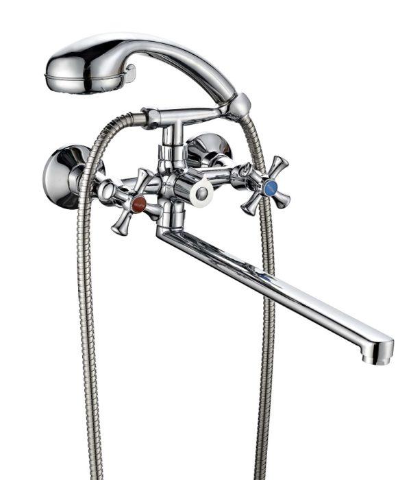 Смеситель для ванной комнаты Профсан ПСМ 159 ЕК/75 (массажная лейка)