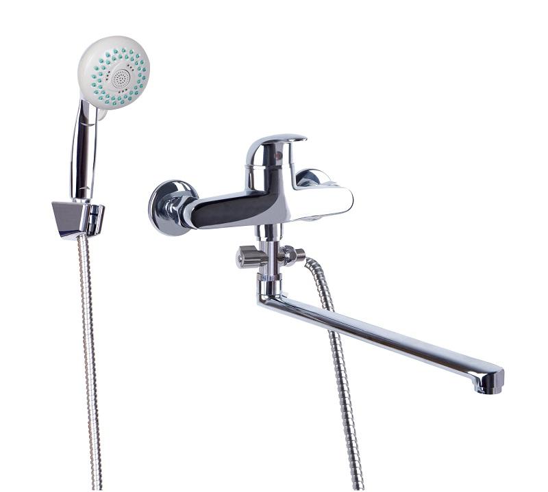 Смеситель для ванной Профсан ПСМ 523-ЕКТ/072 с массажной лейкой