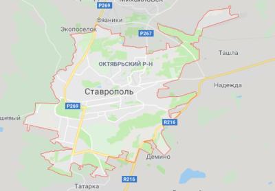 Ставрополь на карте
