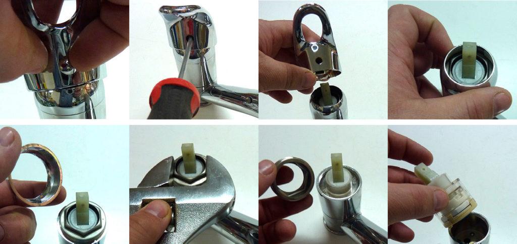 Ремонт и замена картриджа в смесителе