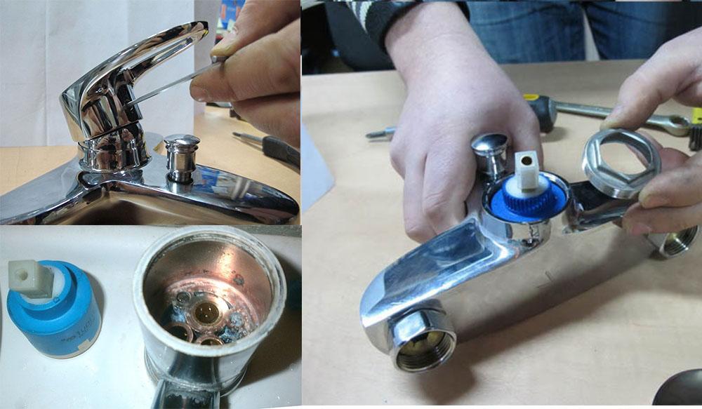 Ремонт однорычажного смесителя для ванной своими руками
