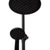 Лейки душевой системы ПРОФСАН ПСМ-301-8 STEEL BLACK нерж. сталь черный-бронза фронтальный вид