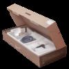 Душевая система ПРОФСАН ПСМ-301-8 STEEL BLACK нерж. сталь черный-бронза в открытой коробке