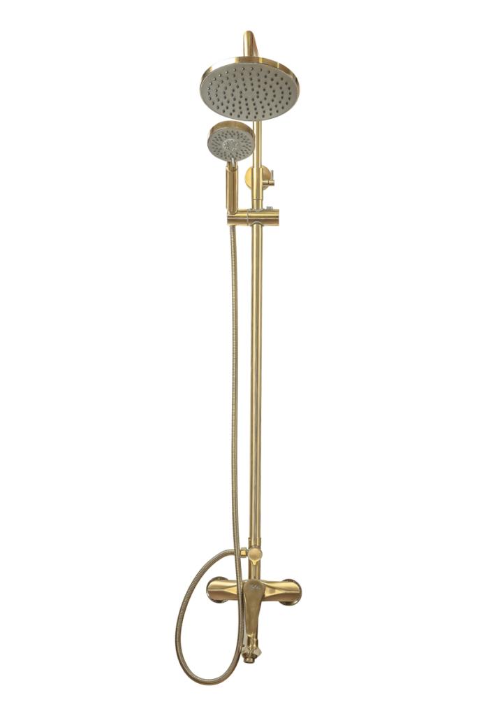 Душевая система со смесителем Профсан ЗОЛОТО ПСМ-303-8 STEEL GOLD