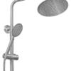 Лейка душевой системы со смесителем СТАЛЬ ПСМ-300-8 вид сбоку