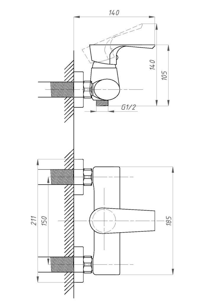 Схема смесителя Профсан ПСМ 100-4 ЭЛИТ