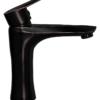 Смеситель для раковины ПРОФСАН ПСМ-301-5 STEEL BLACK нерж. сталь черный-бронза с поднятой ручкой вид сбоку