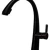 Смеситель для кухни ПРОФСАН ПСМ-301-9 STEEL BLACK нерж. сталь с выдвижной лейкой черный-бронза вид сбоку