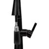 Выдвижной излив смесителя для раковины Профсан БРОНЗА ПСМ-301-9 STEEL BLACK фронтальный вид