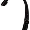 Смеситель для кухни ПРОФСАН ПСМ-301-9 STEEL BLACK нерж. сталь с выдвижной лейкой черный-бронза на гайке вид сбоку