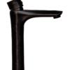 Смеситель для раковины ПРОФСАН ПСМ-301-6 STEEL BLACK нерж. сталь высокий черный-бронза вид сбоку