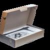 Смеситель для раковины ПРОФСАН ПСМ-301-6 STEEL BLACK нерж. сталь высокий черный-бронза в открытой коробке