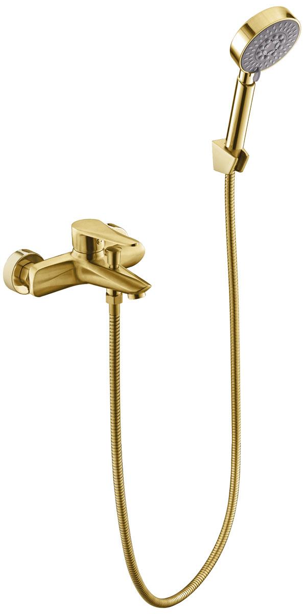 Смеситель для ванной с коротким изливом Профсан ЗОЛОТО ПСМ-303-1 STEEL GOLD