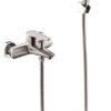 Смеситель для ванной комнаты короткий нос СТАЛЬ ПСМ-300-1 STEEL