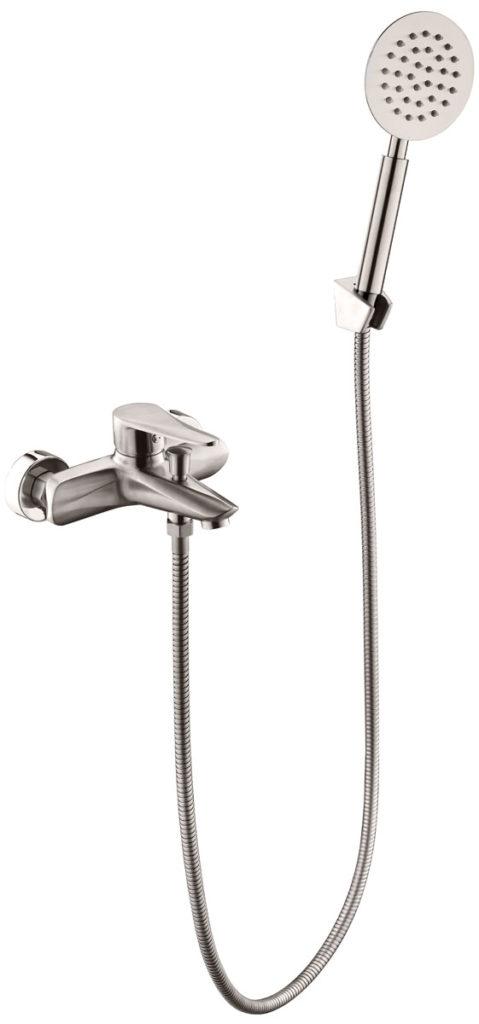Смеситель для ванной комнаты короткий нос СТАЛЬ ПСМ-300-1