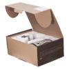 Смеситель с душевой лейкой и шлангом СТАЛЬ ПСМ-300-4 STEEL в открытой коробке