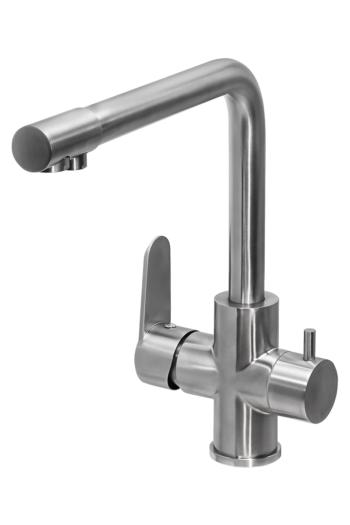 Смеситель для кухни ПРОФСАН ПСМ-300-22 STEEL с подключением фильтра