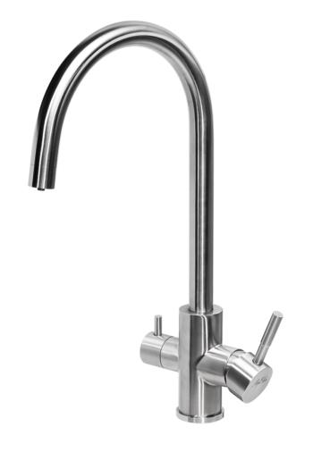 Смеситель для кухни ПРОФСАН ПСМ-300-11 STEEL с подключением фильтра