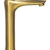 Смеситель для раковины высокий ПРОФСАН ПСМ-303-6 STEEL GOLD вид сбоку