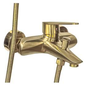 Смеситель для ванны с душем ПРОФСАН ПСМ-303-1 STEEL GOLD нерж. сталь золотой иконка