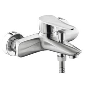 Смеситель для ванны с душем ПРОФСАН ПСМ-300-1 STEEL нерж. сталь иконка