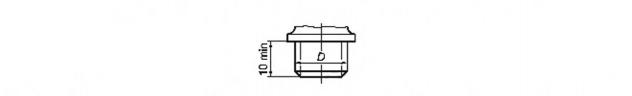 Рисунок 23 — Присоединительные размеры корпусов вентильных головок водоразборной и смесительной санитарно-технической арматуры